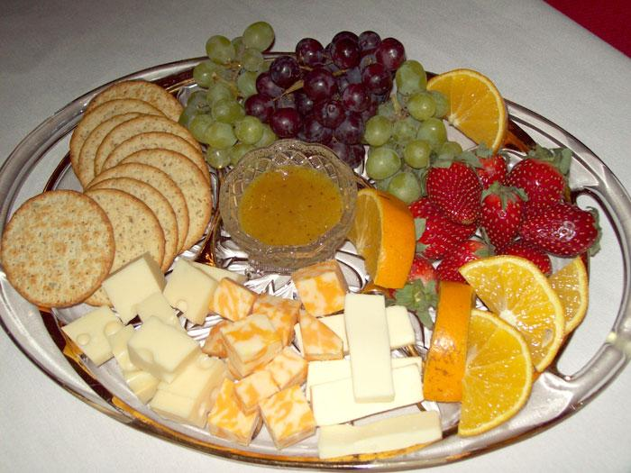 Fruit Crackers and Cheese Plate & Berry Patch Bed and Breakfast
