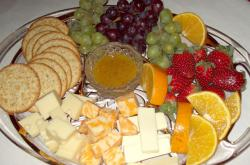 Fruit, Crackers, and Cheese Plate